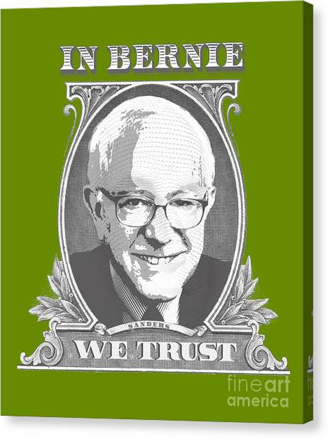 Bernie Sanders Canvas Print - In Bernie We Trust by Politicrazy Designs