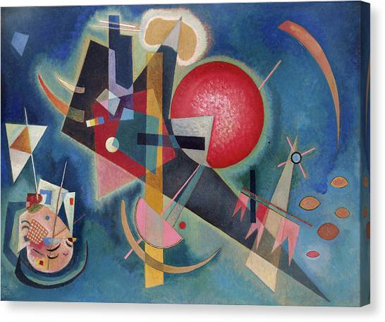 d4504bbcfe5 Canvas Print featuring the painting In Blue by Wassily Kandinsky