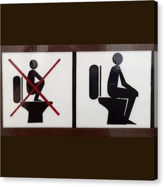 Korean Canvas Print - Restroom Usage Sign by Nancy Ingersoll