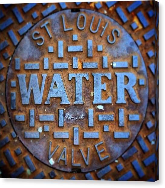 St. Louis Blues Canvas Print - St. Louis Water by Joshua Glidden