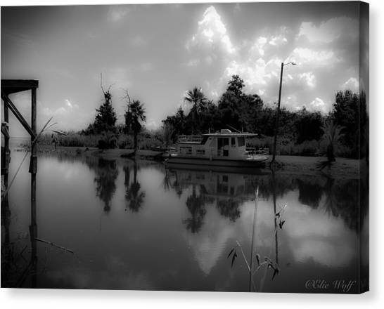 In Florida, A Boat Canvas Print