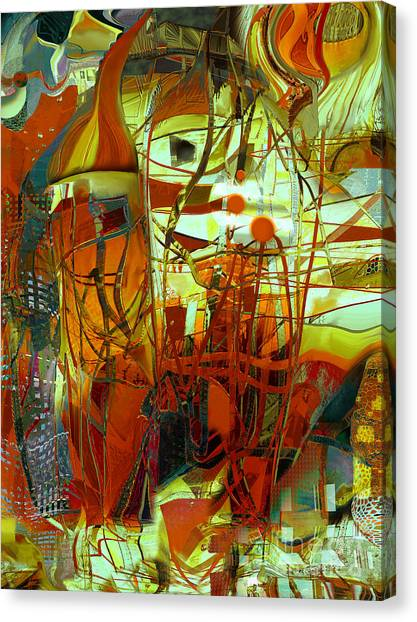 In Front Of The Towngate Canvas Print by Anne Weirich