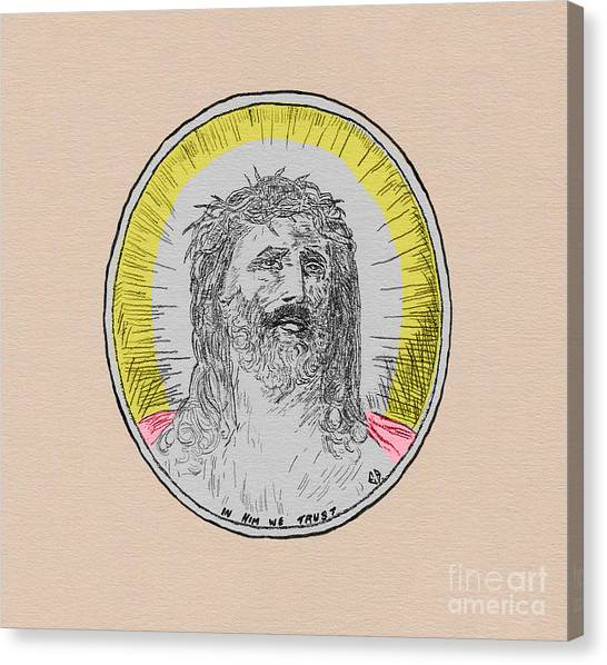 In Him We Trust Colorized Canvas Print