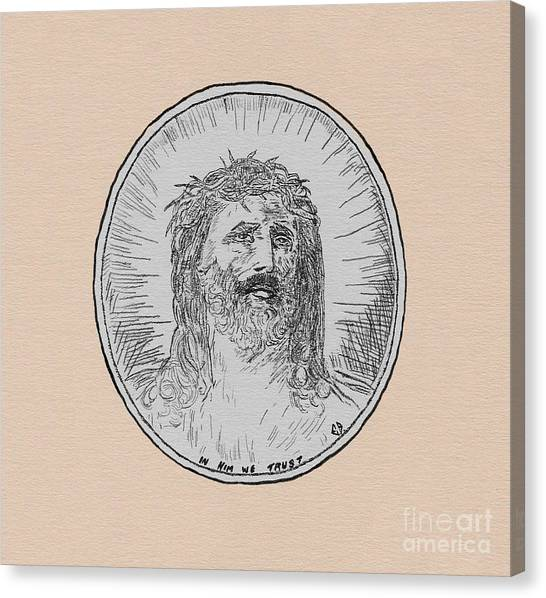In Him We Trust Canvas Print