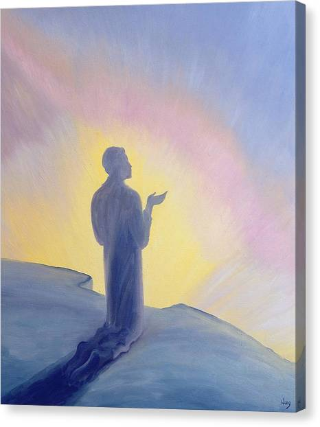 Praise The Lord Canvas Print - In His Life On Earth Jesus Prayed To His Father With Praise And Thanks by Elizabeth Wang