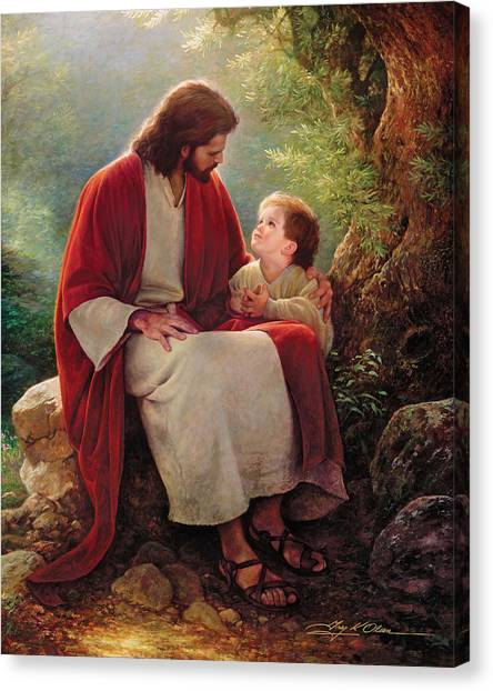 Religious Canvas Print - In His Light by Greg Olsen