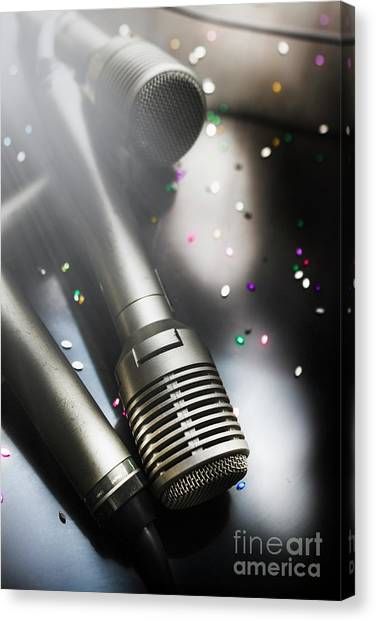 Speakers Canvas Print - In Lights And Glitter by Jorgo Photography - Wall Art Gallery