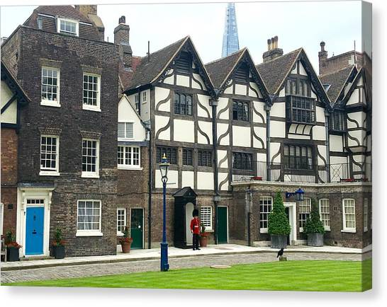 Tower Of London Canvas Print - In London by Nancy Ann Healy