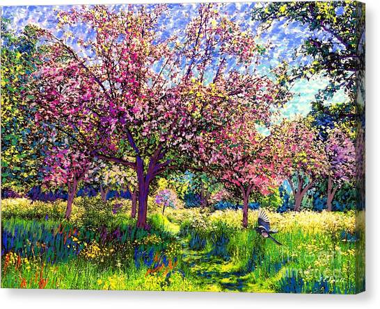 Daisy Canvas Print - In Love With Spring, Blossom Trees by Jane Small