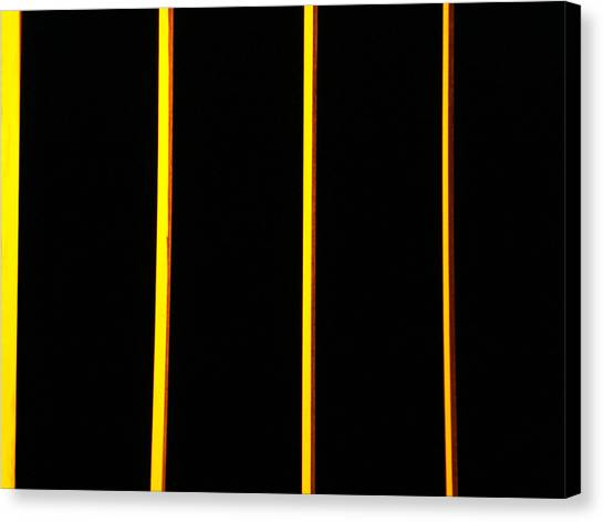 In Memory Of Dan Flavin Canvas Print by Kevin Callahan