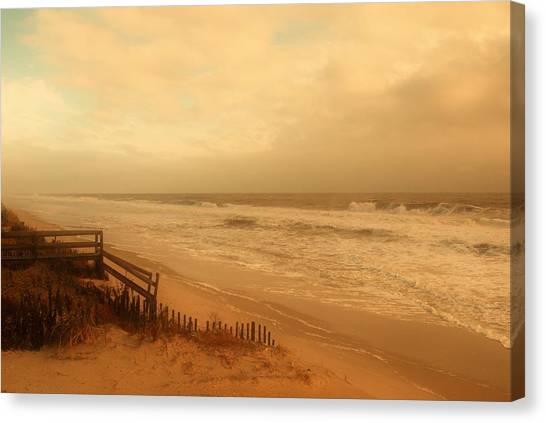 In My Dreams The Ocean Sings - Jersey Shore Canvas Print