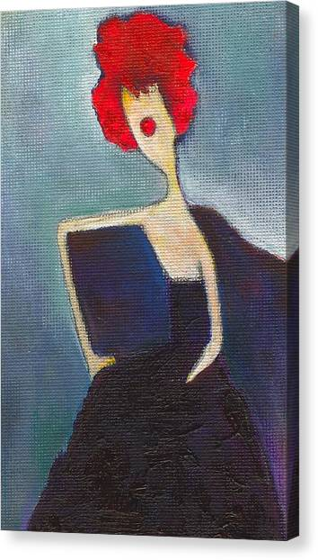 In My Evening Dress Canvas Print