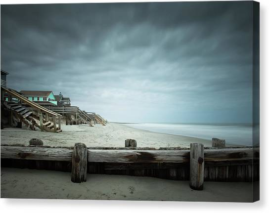 Groin Canvas Print - In Need Of Repairs by Ivo Kerssemakers