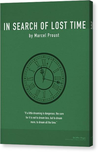 Search Canvas Print - In Search Of Lost Time Greatest Books Ever Series 007 by Design Turnpike