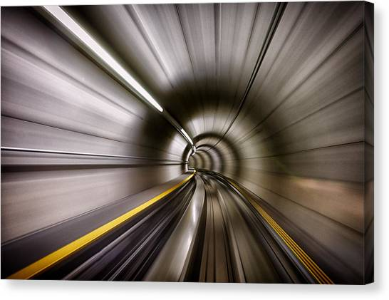 Tunnels Canvas Print - In by Sergei Ustinov