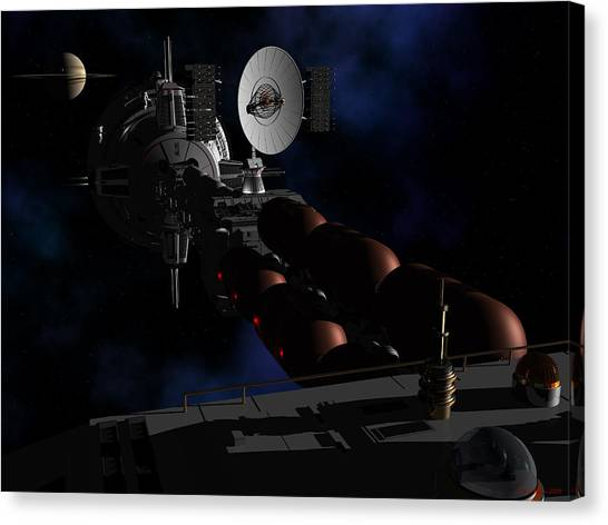 In Sight Of Saturn Canvas Print
