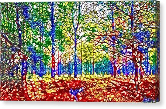 In Spite Off The Trees Canvas Print