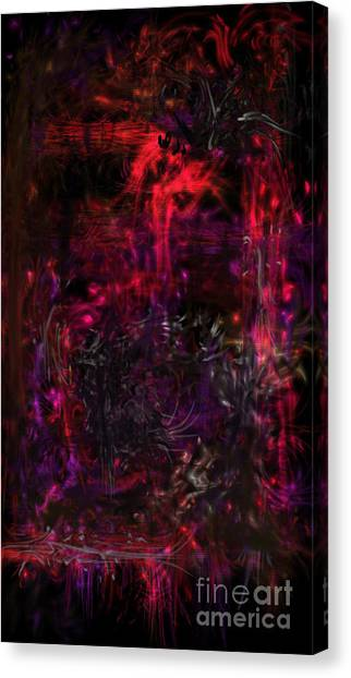 Canvas Print featuring the digital art In The Ancients Chambers by Reed Novotny
