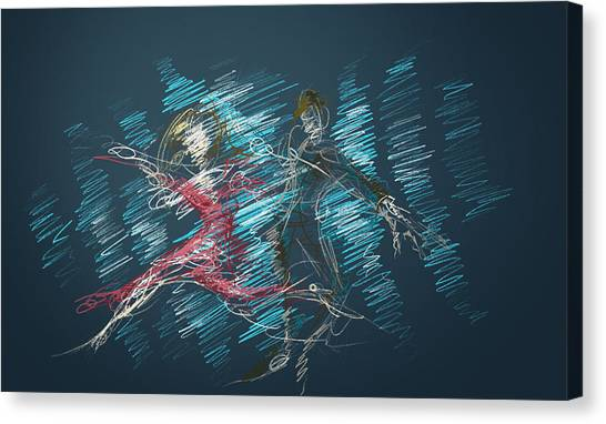 Canvas Print featuring the digital art In The Ballroom by Keith A Link