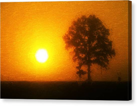 Sunrise Horizon Canvas Print - In The Beginning by Dan Sproul