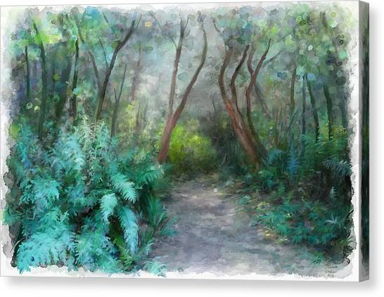 Canvas Print featuring the painting In The Bush by Ivana Westin