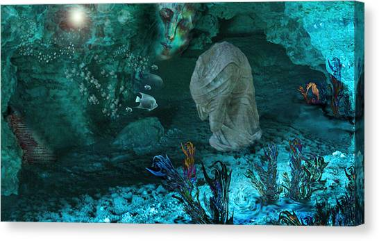 Underwater Caves Canvas Print - In The Deep by Patricia Motley