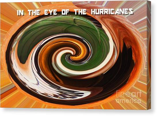 University Of Miami Canvas Print - In The Eye Of The Hurricanes by Sharon Eng