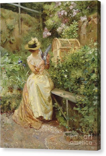 Victorian Garden Canvas Print - In The Garden, 1892 by Robert Payton Reid