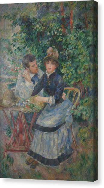 In The Garden  Canvas Print by Pierre Auguste Renoir