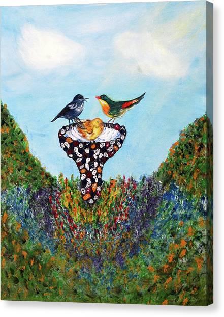 In The Garden Canvas Print by Ann Ingham