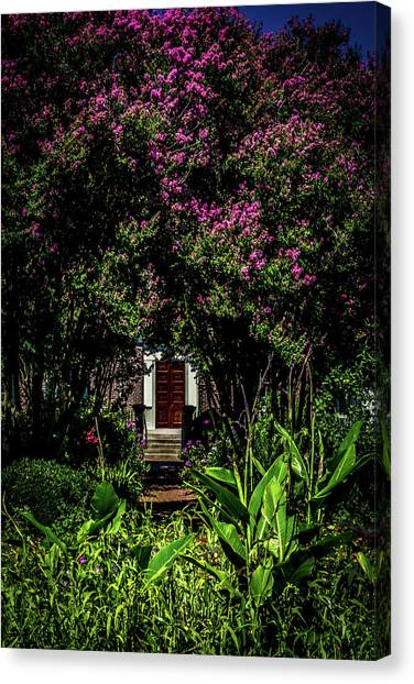 Canvas Print featuring the photograph In The Garden - The Hermitage by James L Bartlett