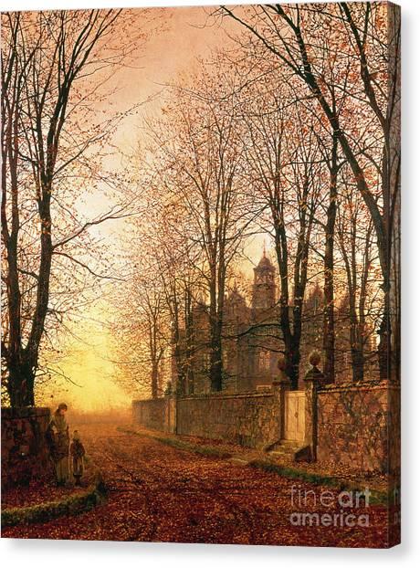 Sundown Canvas Print - In The Golden Olden Time by John Atkinson Grimshaw