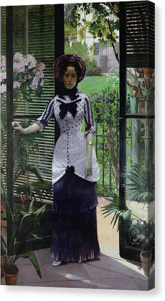 Conservatories Canvas Print - In The Greenhouse by Albert Bartholome