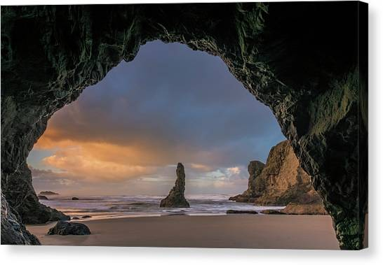 In The Grotto Canvas Print
