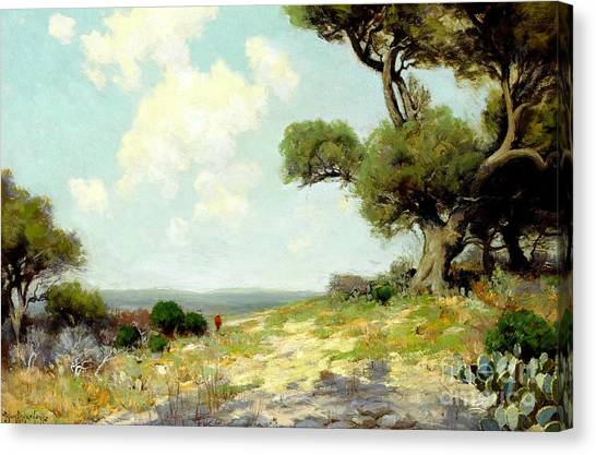 In The Hills Of Southwest Texas 1912 Canvas Print