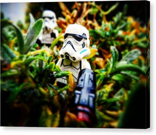 Stormtrooper Canvas Print - Welcome To The Jungle. by Richard Symons