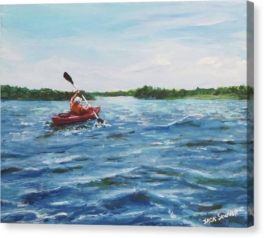 Canvas Print - In The Kayak by Jack Skinner