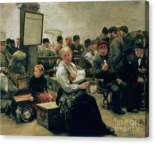 Anxious Canvas Print - In The Land Of Promise by Charles Frederic Ulrich