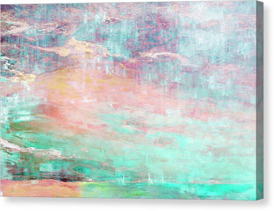 Abstract Seascape Canvas Print - In The Light Of Each Other by Jaison Cianelli