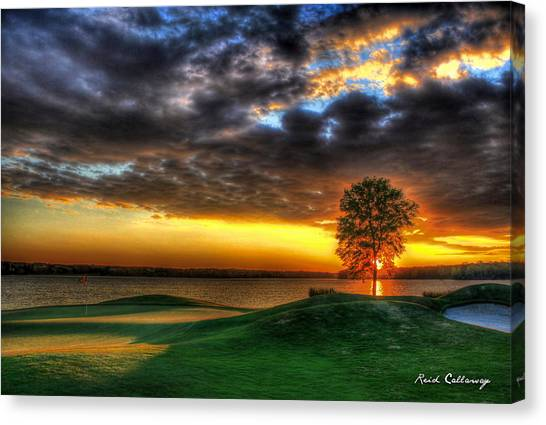 Jack Nicklaus Canvas Print - In The Limelight The Landing Reynolds Plantation by Reid Callaway