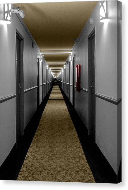 In The Long Hall Canvas Print