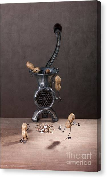 Meat Canvas Print - In The Meat Grinder 01 by Nailia Schwarz