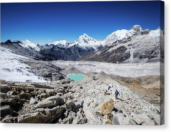 In The Middle Of The Cordillera Blanca Canvas Print