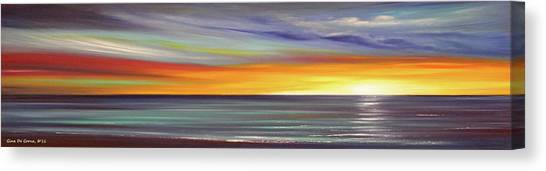 In The Moment Panoramic Sunset Canvas Print