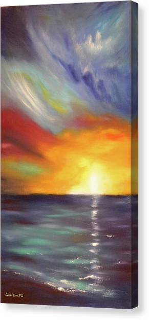 In The Moment - Vertical Sunset Canvas Print
