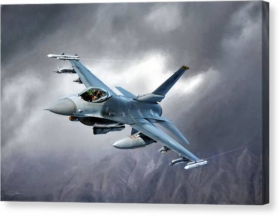 F16 Canvas Print - In The Mood by Peter Chilelli