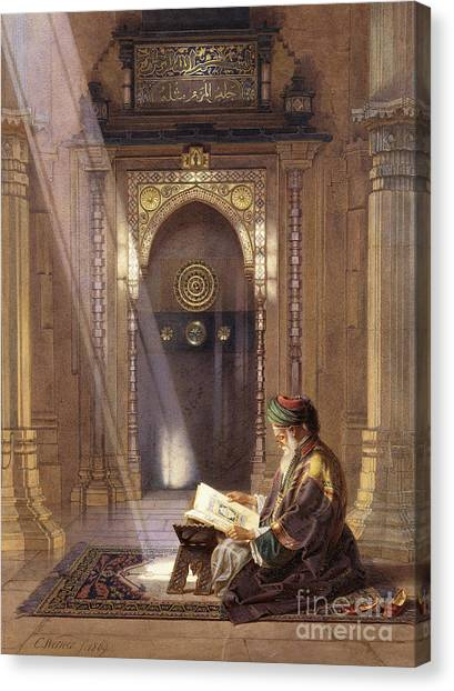 Academic Art Canvas Print - In The Mosque by Carl Friedrich Heinrich Werner