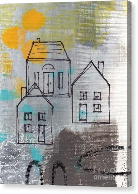 Circle Canvas Print - In The Neighborhood by Linda Woods