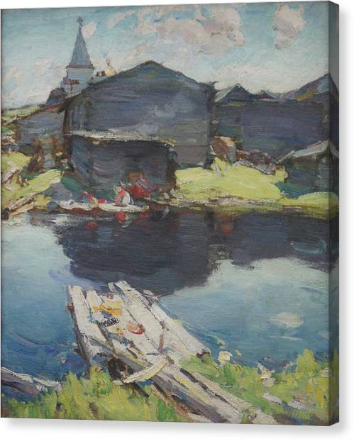 In The North Canvas Print by Abram Arkhipov