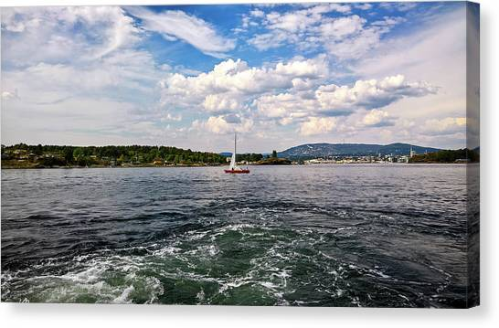In The Oslo Fjord Canvas Print